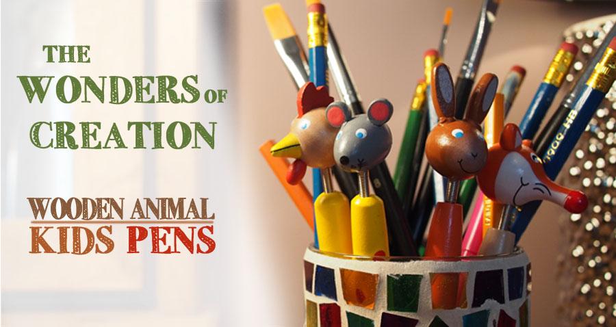 Animal Kids Pens Banner