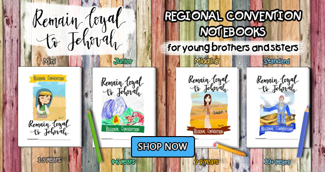 Main Banner - Remain Loyal to Jehovah Notebooks for Kids