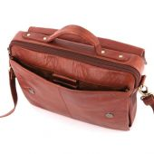 Shekem - Messenger Leather Bag (Unisex) - Brown