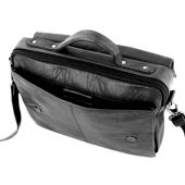 Shekem - Messenger Leather Bag (Unisex) - Black