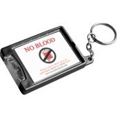 "Torch Keyring ""No blood"""