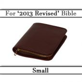 Bible Cover with Zip - Leather