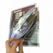 NEW! Magazine Folder 6 Compartments - Clear Plastic