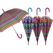 Perletti Charro Italian Striped Umbrella