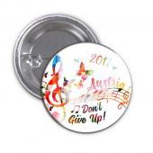 "2017 ""Don't Give Up!"" Special Convention Magnet and Clothing Pins - Vienna, Austria"