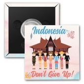 "2017 ""Don't Give Up!"" Special Convention Magnet and Clothing Pins - Jakarta, Indonesia"