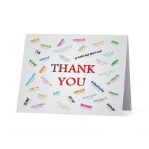 Thank You Greeting Card in 35 Languages