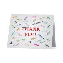 Cartes de remerciement en 35 langues