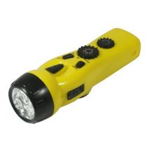 Wind-up Flashlight with Radio, Siren and Telephone Charger