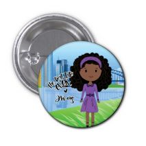 The Best Life Ever Button Pin Badge - Zalinia