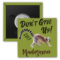 "2017 ""Don't Give Up!"" Special Convention Magnet and Clothing Pins - Antananarivo, Madagascar"