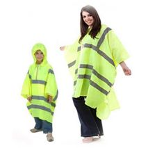High Visibility Poncho with Hood