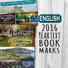 2016 Bible reading bookmarks