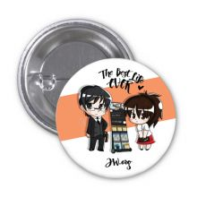 The Best Life Ever Button Pin