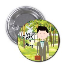 The Best Life Ever Button Pin Badge - Rentaro