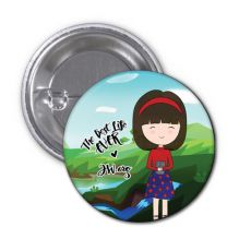 The Best Life Ever Button Pin Badge - Suki