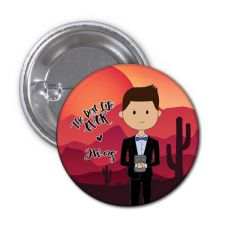 The Best Life Ever Button Pin Badge - Tom