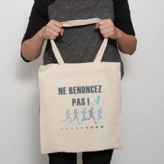 """2017 """"Don't Give Up!"""" Convention Tote Bag - French"""