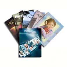 Clear Plastic Cover for: Brochure,  Who Are Doing Jehovah's Will Today?, Watchtower, Kingdom Ministry, etc.