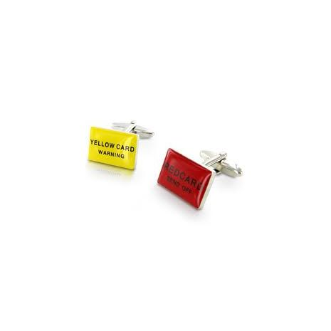 Red and Yellow Cards Cufflinks