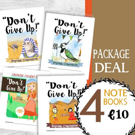 "2017 Children's Notebook Bundle - ""Don't Give Up"" Convention PDF Download"