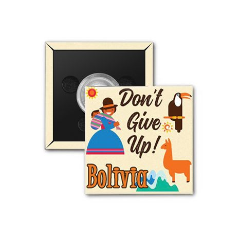 "2017 ""Don't Give Up!"" Special Convention Magnet and Clothing Pins - Cochabamba, Bolivia"