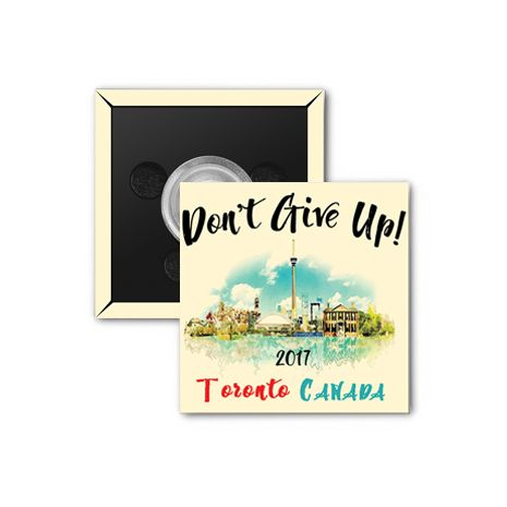 """2017 """"Don't Give Up!"""" Special Convention Magnet and Clothing Pins - Toronto, Canada"""