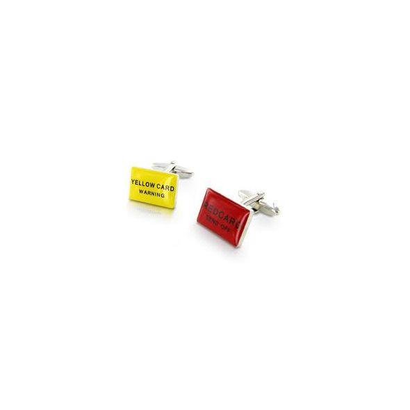 Boutons de Manchette - Carton Jaune et Carton Rouge